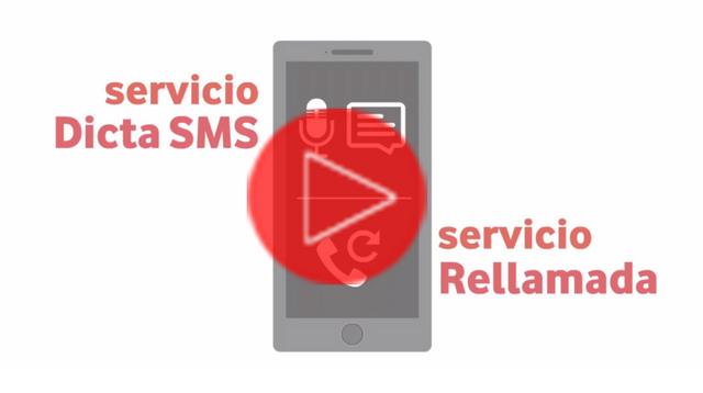 ¿Qué son los servicios Dicta SMS y Rellamada?