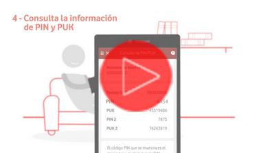 Consultar el PIN/PUK desde la App Mi Vodafone