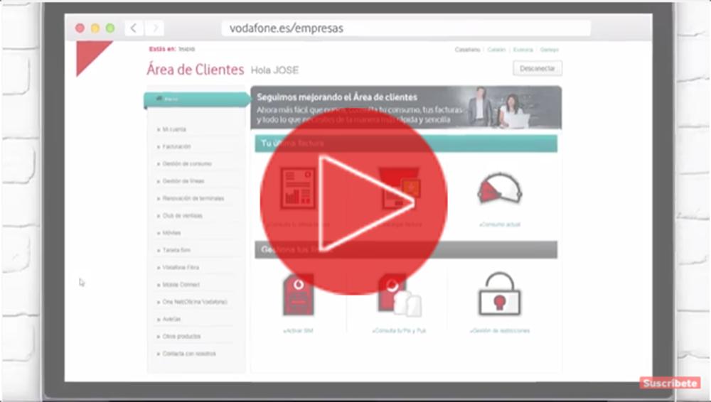 Área de Clientes Vodafone para Pymes
