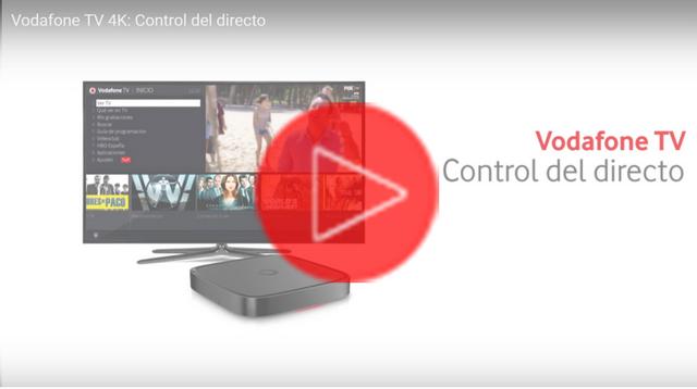Vodafone TV 4K: Control directo