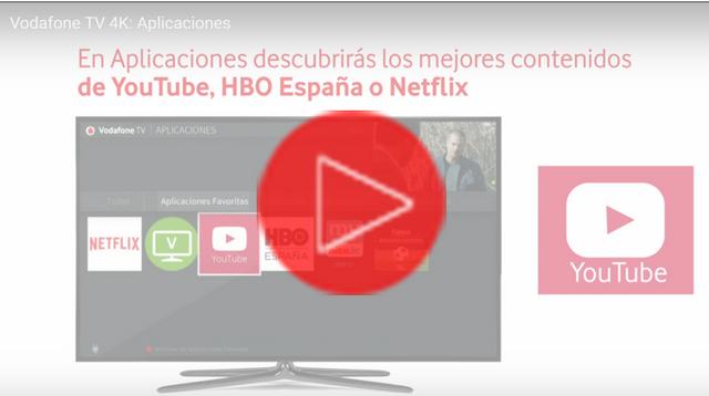 Vodafone TV 4K: Aplicaciones