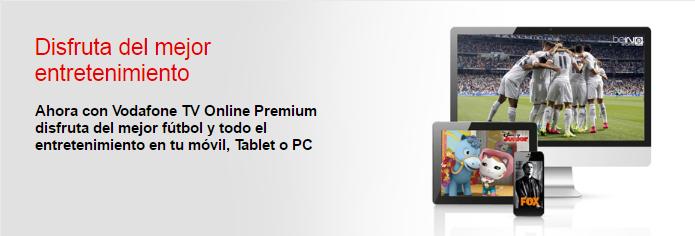Qué es Vodafone TV Online Premium
