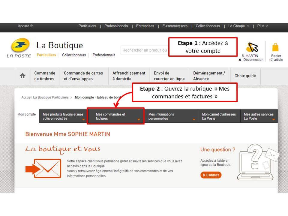 Aide en ligne la poste for Suivi de courrier demenagement