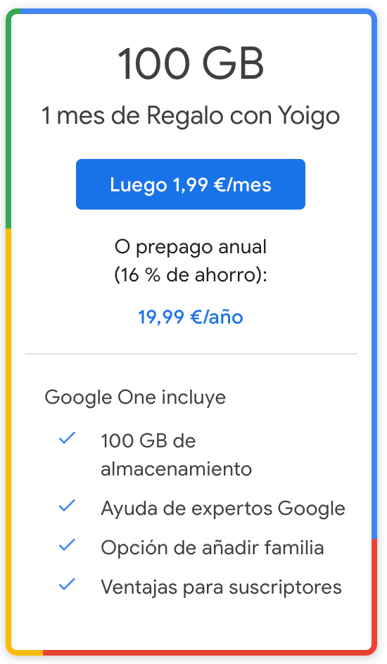 Google One 100GB
